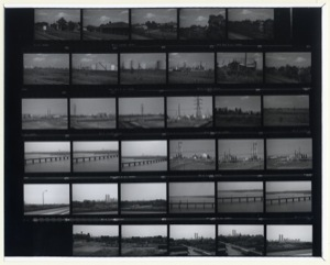 Untitled (New Jersey Turnpike), contact sheet, 1976