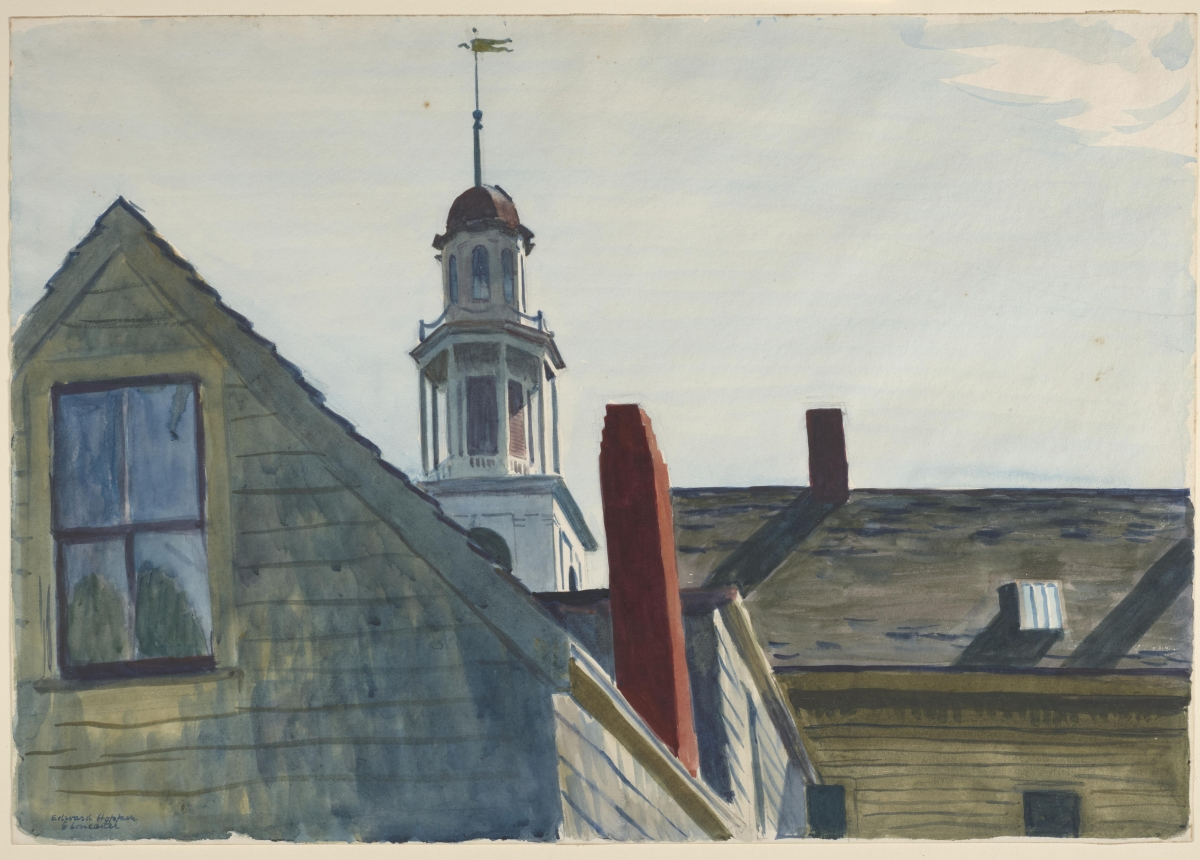 Edward Hopper (American, 1882–1967), Universalist Church, 1926. Watercolor over graphite on cream wove paper. Laura P. Hall Memorial Collection, bequest of Professor Clifton R. Hall