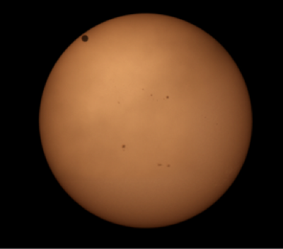 Rare event of Venus as it passed in front of the sun—a so-called Venus transit. Photograph by Robert Vanderbei, 2012