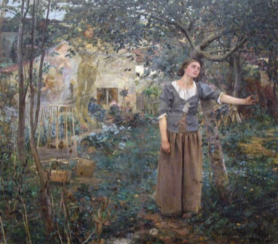 Jules Bastien-Lepage, Joan of Arc, 1879. Metropolitan Museum of Art, New York, gift of Erwin Davis, 1889 (89.21.1)