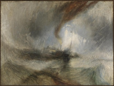 J. M. W. Turner, Snow Storm: Steam-Boat off a Harbour's Mouth, 1842. Tate Gallery, London