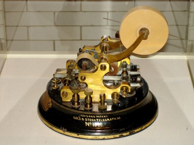 Edison's Gold & Stock ticker