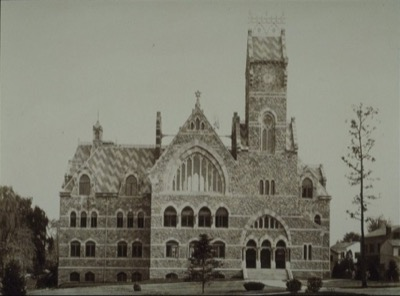 Completed in 1874, the John C. Green School of Science was designed by William A. Potter in the High Victorian Gothic style. Joseph Henry, the former Princeton professor and the first director of the Smithsonian Institution, delivered the inaugural address for the School of Science in May 1873. The School was destroyed by fire in 1928.