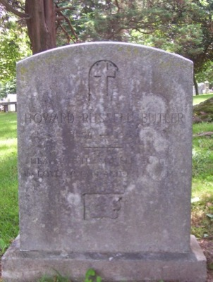 Butler's tombstone in Princeton Cemetery