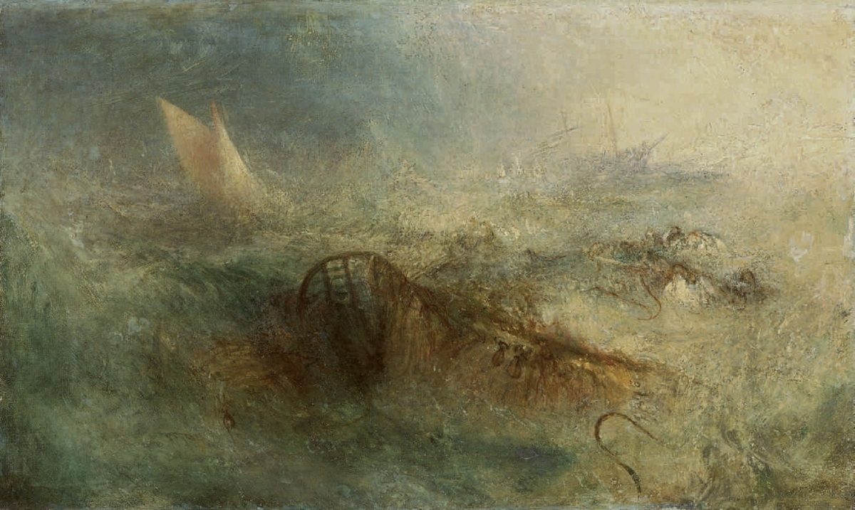 Joseph Mallord William Turner (British, 1775–1851), The Storm, 1840–45. Oil on canvas, 32.5 x 53.8 cm. National Museum Wales (NMW A 509). Courtesy American Federation of Arts