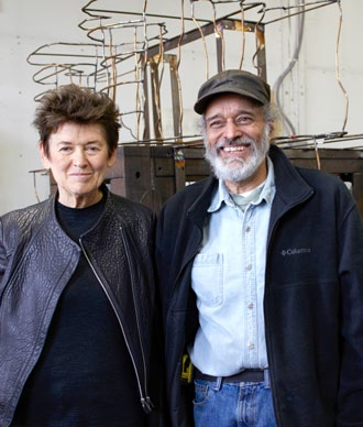 Ursula von Rydingsvard and Richard Webber