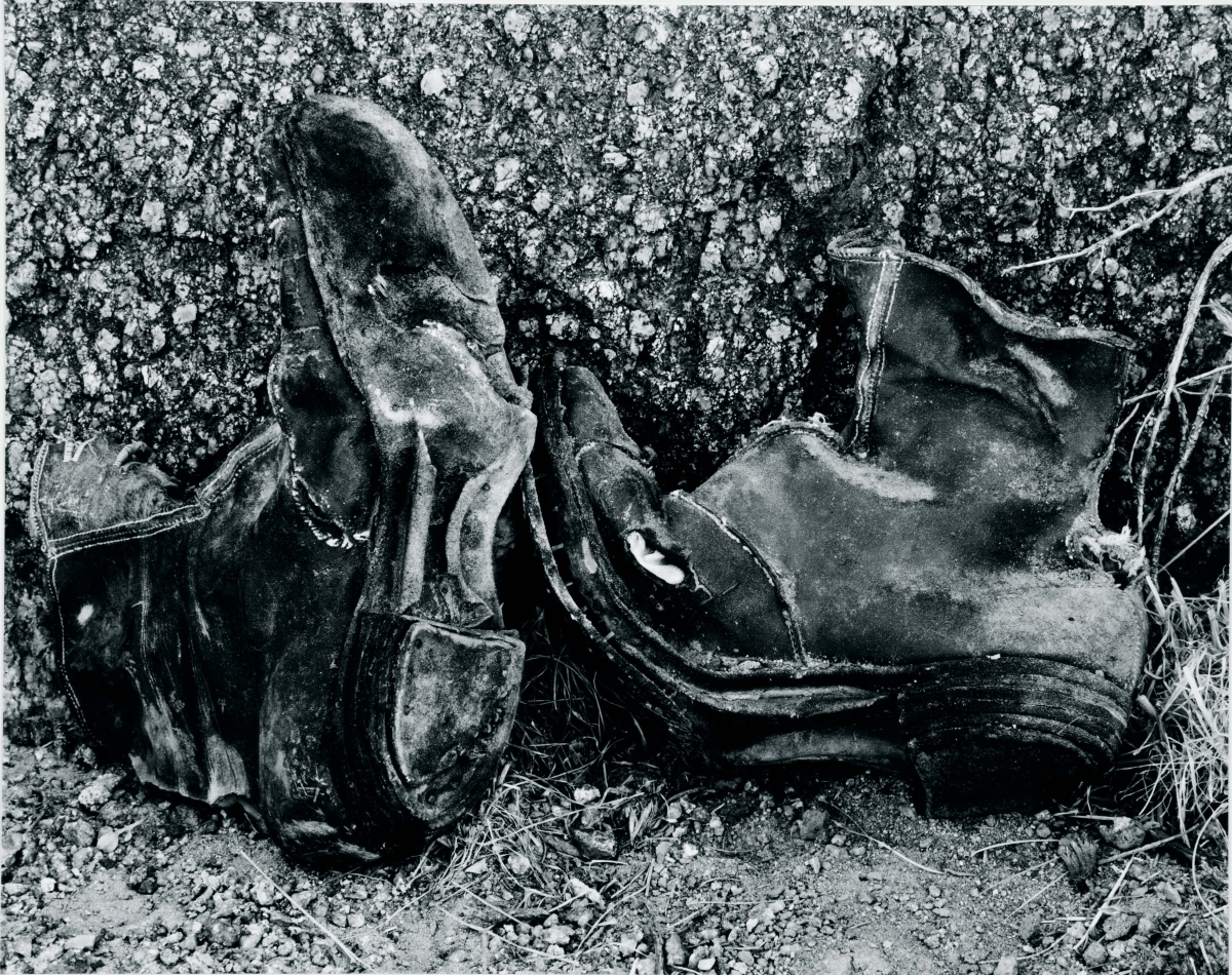 Edward Weston (American, 1886–1958), Shoes from Abandoned Soda Works, Owens Valley, 1937. Gelatin silver print, 19.3 x 24.3 cm. Gift of David H. McAlpin, Class of 1920. © Center for Creative Photography, Arizona Board of Regents