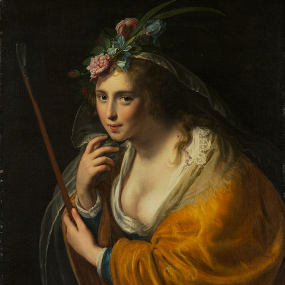 Paulus Moreelse, Dutch, 1571–1638,Shepherdess, 1633. Oil on canvas
