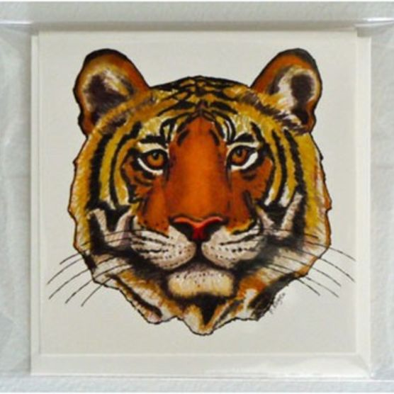 Pamela Kogen's gift cards with tiger image