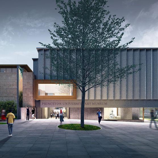Architect's illustration of the New Princeton University Art Museum