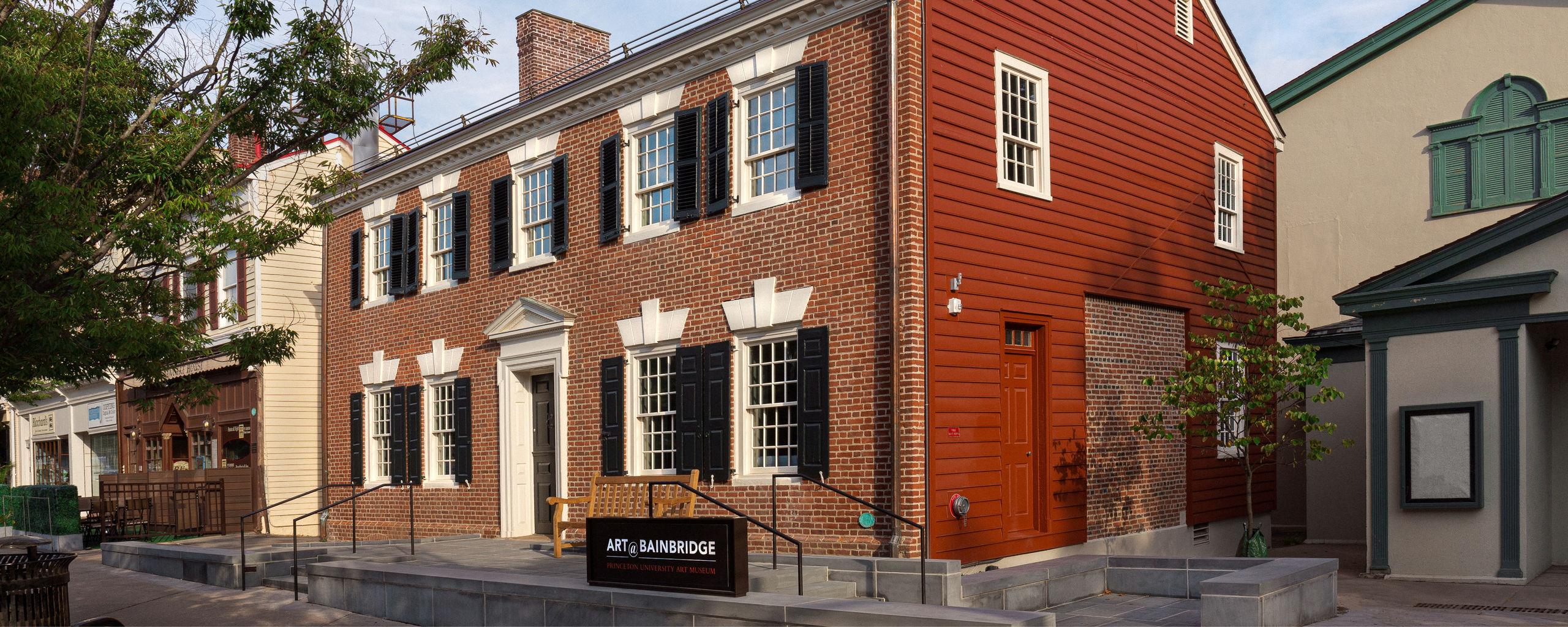 Brick and sided exterior of the Art@Bainbridge building.