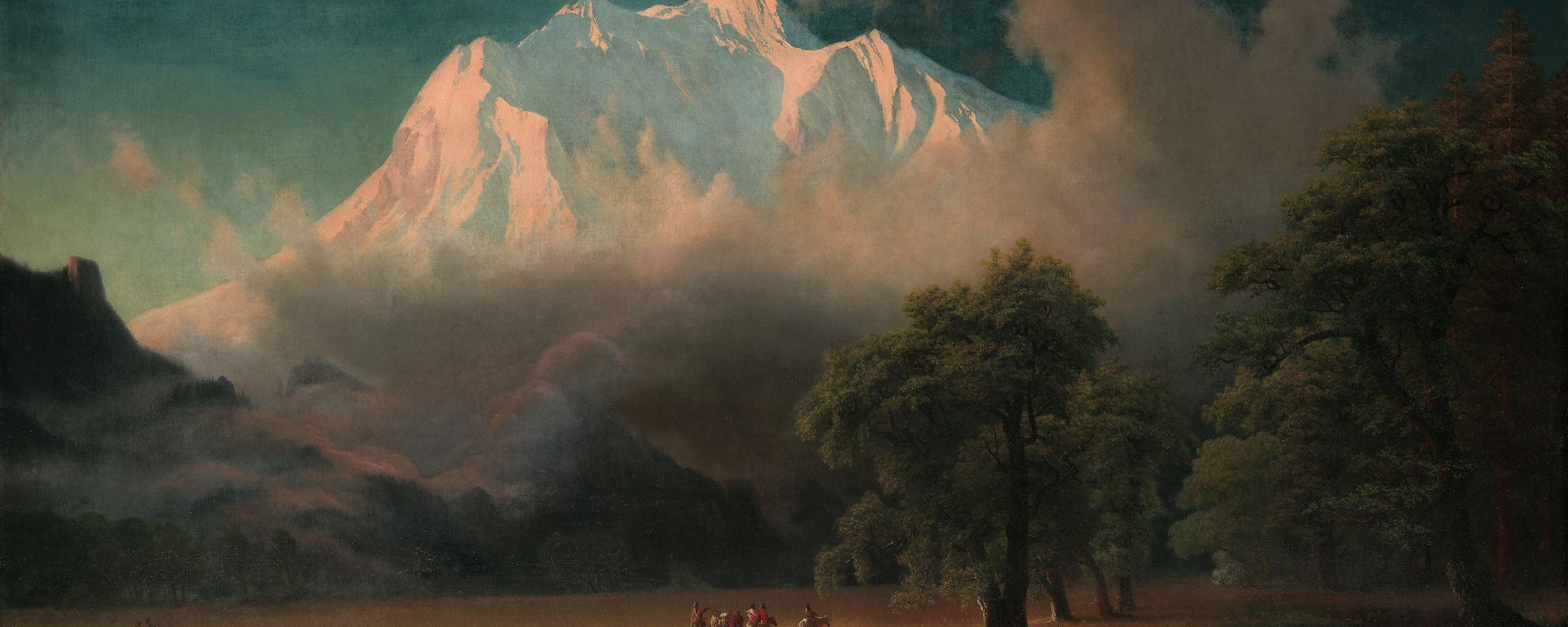 Albert Bierstadt, American, 1830–1902. Mount  Adams, Washington, 1875. Oil on canvas. Gift of Mrs. Jacob N. Beam.
