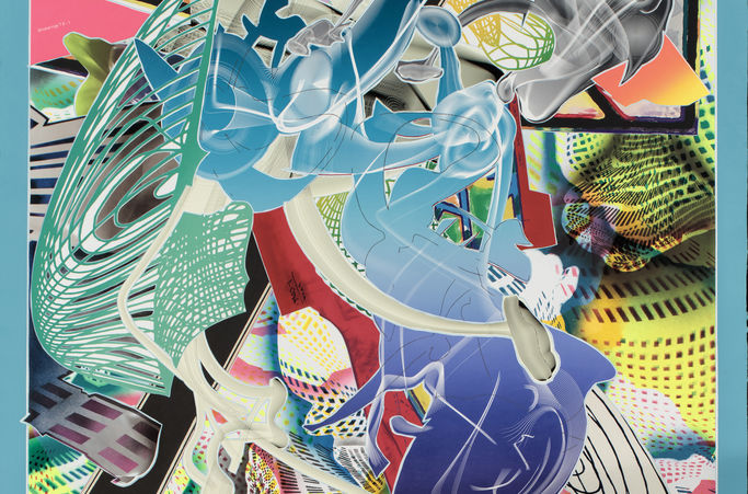 Frank Stella, American, born 1936. Cantahar, 1998. Lithograph, screenprint, etching, aquatint, and relief. Addison Gallery of Art