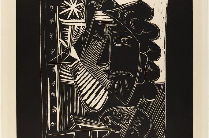 Pablo Picasso, Spanish, 1881–1973 Painter with Palette (Le Peintre à la Palette) 1963