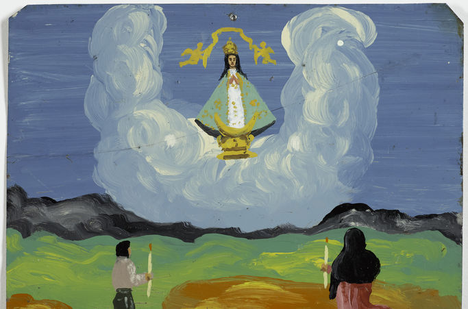 Retablo of José Cruz Soria, 1960. Oil on metal. Arias-Durand Collection