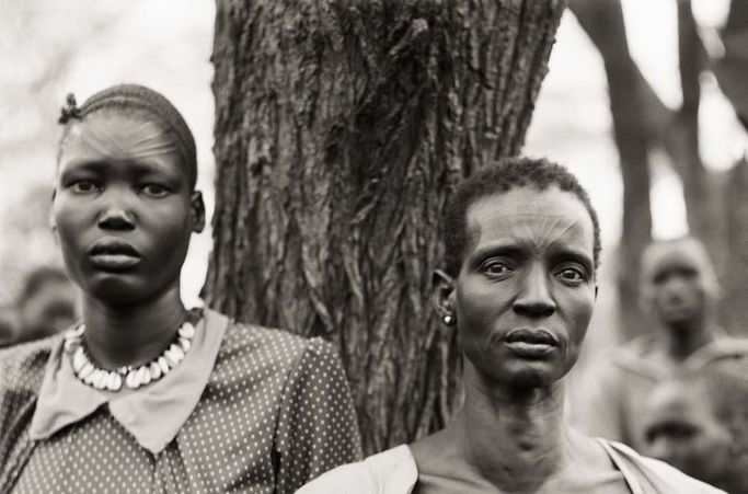 Fazal Sheikh, American, born 1965. Ajoh Achot and Achol Manyen, Sudanese refugee camp, Lokichoggio, Kenya, 1992. Inkjet print