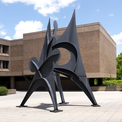 Alexander Calder, American, 1898–1976: Five Disks: One Empty, 1969–70. Painted mild steel. The John B. Putnam Jr. Memorial Colle
