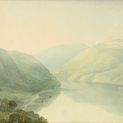 John White Abbott, British, 1764–1851: Loch Long from Hills near Arrochar, Scotland at 5 in the Morning, 1791. Watercolor with pen and gray ink, over graphite, on cream wove paper. Museum purchase, Surdna Fund (2017-216)