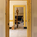 Interior of Bainbridge house under construction.