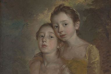Thomas Gainsborough. The Painter's Daughters with a Cat