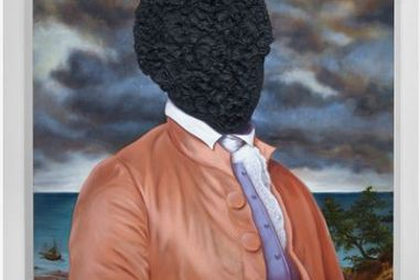 Titus Kaphar, American, born 1976. Billy Lee: Portrait in Tar, 2016.