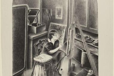 Dan Rice, American, born 1926. Subway Drilling Wood, Engraving, plate: 20.3 x 15.4 cm. (8 x 6 1/16 in.) sheet: 28.7 x 22.1 cm.  Federal Art Project, W.P.A. Loan x1941-46