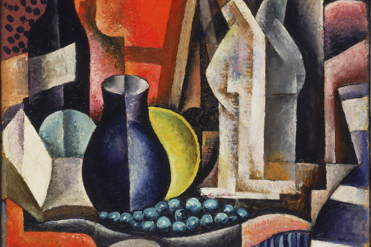 Jean Négulesco, Romanian-American, 1900–1993. Still Life, 1926. Oil on cardboard on wood panel. The Phillips Collection, Washington, DC, Acquired by 1930