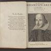 [Plays, First Folio] Mr. William Shakespeares comedies, histories & tragedies