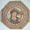 Roman Mosaic pavement: Earth, mid 2nd century A.D. Stone h. 140.0 cm., w. 140.0 cm. (55 1/8 x 55 1/8 in.) Gift of the Committee for the Excavation of Antioch to Princeton University y1965-207