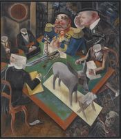 George Grosz German, 1893-1959 Eclipse of the Sun, 1926 Oil on Canvas 207 x 182.5 cm Heckscher Museum of Art, Museum Purchase 1968.1
