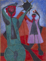 © DR Rufino Tamayo / Heirs / Mexico / Olga and Rufino Tamayo Foundation, AC Rufino Tamayo Total Eclipse 1946 Oil and sand on canvas
