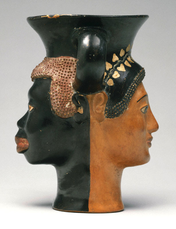 Striking attitudes on the sides of ancient Greek vases