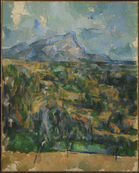 Detail of Mont Sainte-Victoire by Paul Cézanne. Photo: Bruce M White